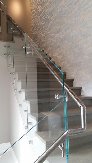 Glass Stairway Railing View Portfolio