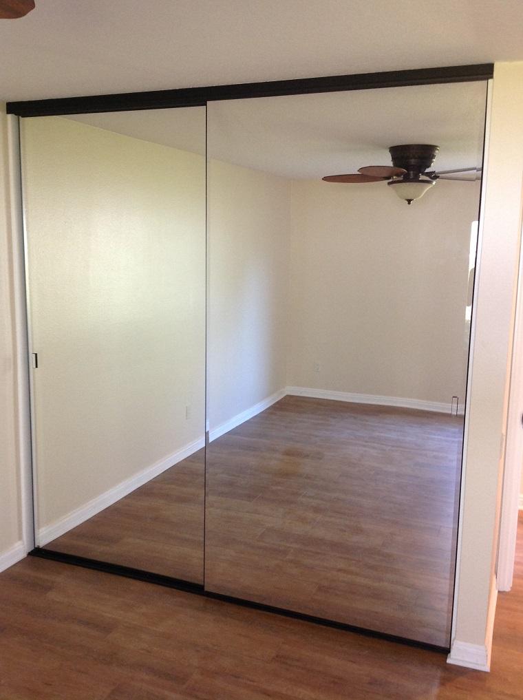 Bathroom closet doors